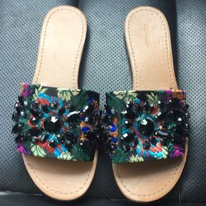 Express jeweled sandals